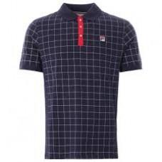 Fila Nile Polo Shirt Mens Peacoat/White/Red