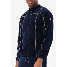 Fila Tusk Velour Track Jacket Peacoat/White