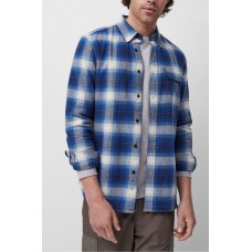 French Connection Goldfinch Check Shirt Estate Blue Multi 52QAL