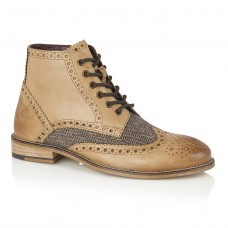 London Brogues Gatsby Hi men's boots tan/tweed