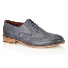London Brogues Gatsby Mens Navy Matt