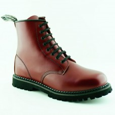 Grinders Cedric 8 Eye Boots Red