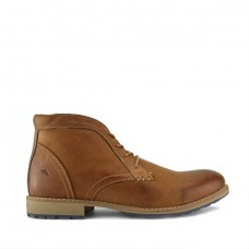 Front Hampstead Mens Brown Leather Chukka Boots