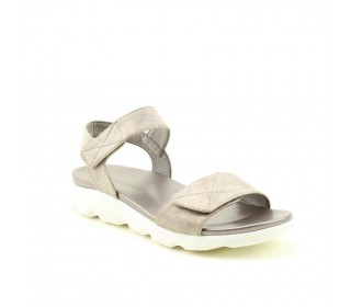 Heavenly Feet Ladies Ath-leisure comfort sandal, style Heidi.Pewter