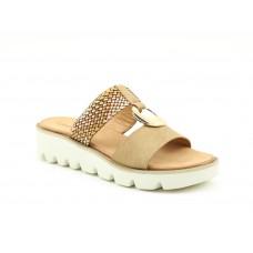 Heavenly Feet Camellia Camel/Gold Mule