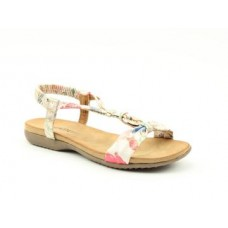 Heavenly Feet Campari Slip On Sandals Women's White Floral