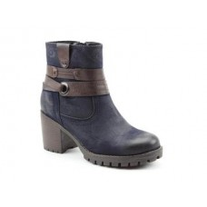 Heavenly Feet Ladies Ankle Boots Carrie Midnight/Black