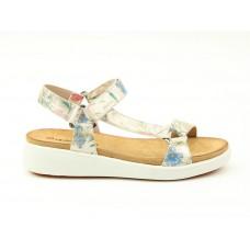 Heavenly Feet Delta Womens Wedge Sandal White Floral