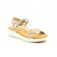 Heavenly Feet Delta Womens Wedge Sandal Rose Gold