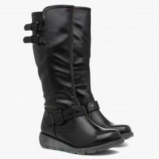 Heavenly Feet Tall Boots Erica Black