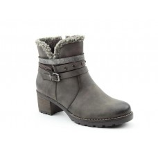 Heavenly Feet Fizz Grey Ladies Ankle Boots