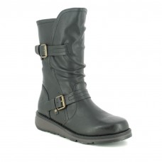 Heavenly Feet Hannah Black Ladies Calf Length Boots