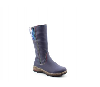 Heavenly Feet ladies calf length boots Leah navy