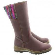 Heavenly Feet Leah Mid Calf Boots Purple
