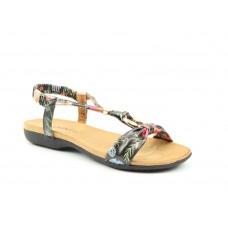 Heavenly Feet Campari Slip On Sandals Black Floral Women's