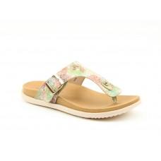 Heavenly Feet Isabel Toe Post Sandals Taupe Ladies