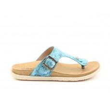 Heavenly Feet Isabel Toe Post Sandals Blue Ladies