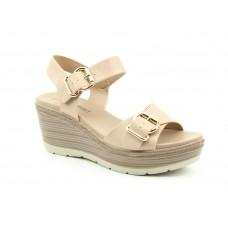 Heavenly Feet Juniper Nude Wedge Heeled Sandals Ladies