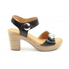 Heavenly Feet Sadie Heeled Sandal Black