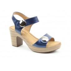 Heavenly Feet Sadie2 Heeled Sandals Navy Ladies