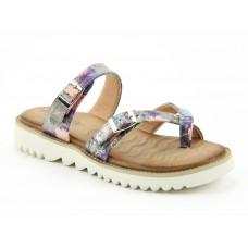 Heavenly Feet Sunset Purple Toe Post Sandals Ladies