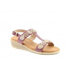 Heavenly Feet ladies Vegan friendly wedge sandals Pandora plum