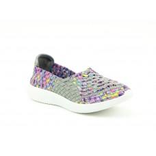Heavenly Feet Peony Comfort Shoe Grey