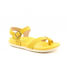 Heavenly Feet ladies Vegan friendly toe loop sandles River yellow