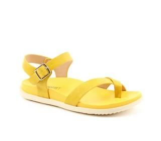 Heavenly Feet ladies Vegan friendly toe loop sandles River yellow
