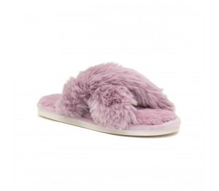 Heavenly Feet Wanda Lilac ladies slip on mules/slippers