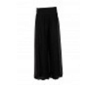 Womens Italian Silk Trousers black