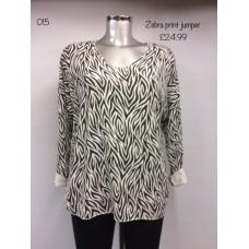 Made in Italy Zebra Print Jumper