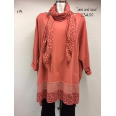 Made in Italy Tunic Top and Scarf