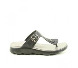 Heavenly Feet Layla Black Slip On Sandal