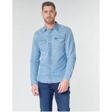 Lee Mens Long Sleeved Slim Fit Shirt Frost Blue