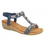 Cipriata Ladies Slip On Sandals Lia Blue