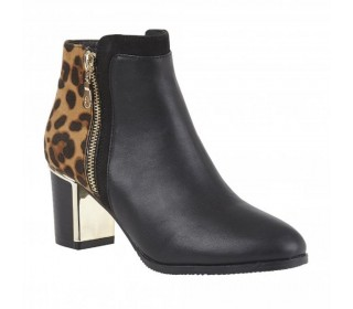 Marco Tozzi ladies ankle boots Greeve black/leopard print