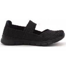 Heavenly Feet Mambo Woven Shoe Black