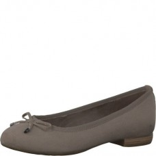 Marco Tozzi Taupe Slip-On Pumps With Bow