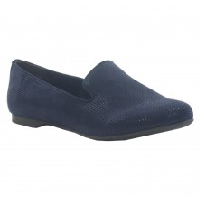 Marco Tozzi Navy Metallic Slip-On Loafer