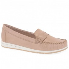Marco Tozzi Ladies Slip On Moccassin Pink