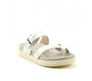 Heavenly Feet Ladies premium toe-loop sandal, style Oregano. White