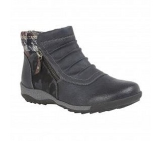 Lotus Relife ladies ankle boots Violette navy