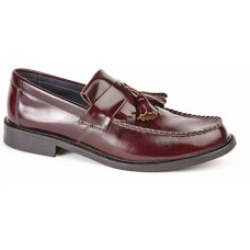 Roamers men's smart casual toggle saddle loafer Ox Blood