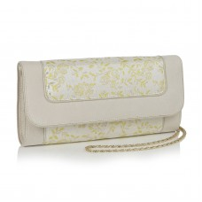 Ruby Shoo Charleston Clutch Bag Cream/Lemon