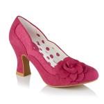 Ruby Shoo ladies mid heel court shoe Chrissie fuchsia