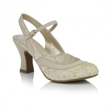 Ruby Shoo ladies heeled slingback shoes  Lucia lemon