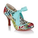 Ruby Shoo ladies hi-cut court shoe Willow aqua