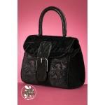 Ruby Shoo Riva Velvet Bag Black