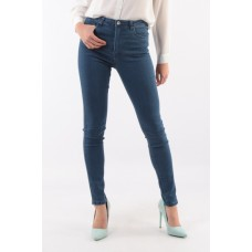 Toxik3 Stretch Fit Skinny High Waisted Ladies Jeans. Dark Blue